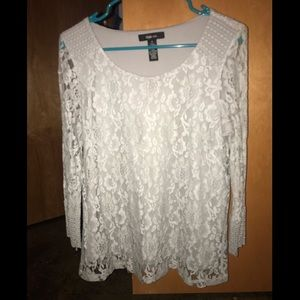 Style&Co. Grey lace top.